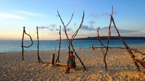 Sunset at Puka Beach Boracay
