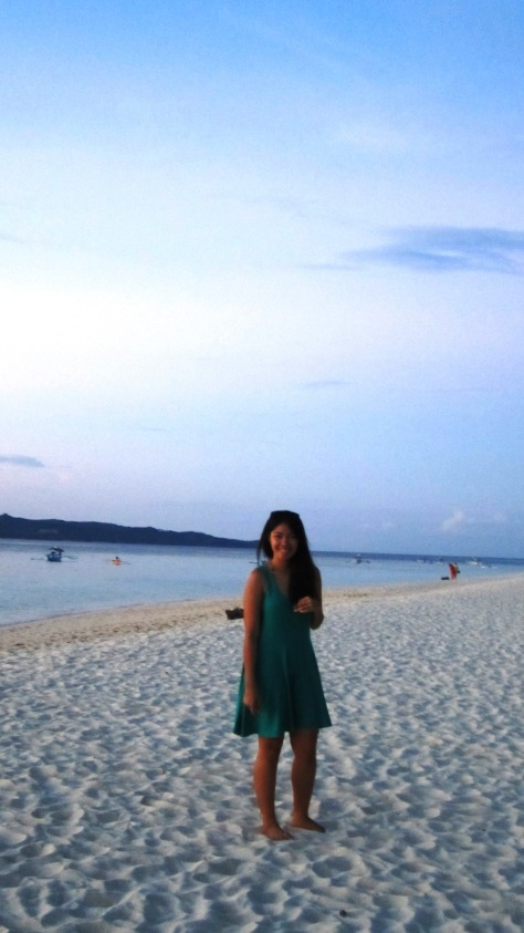 Sunset at Puka Beach Boracay