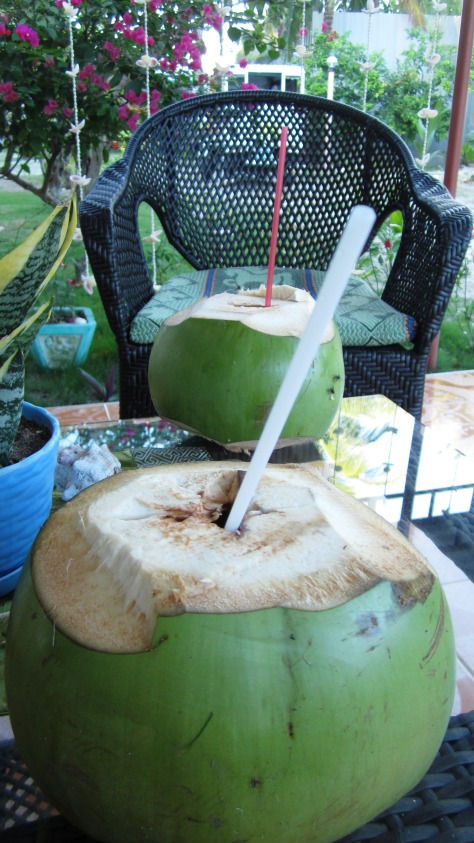 Coconut drink at Sta. Fe, Bantayan Island, Cebu