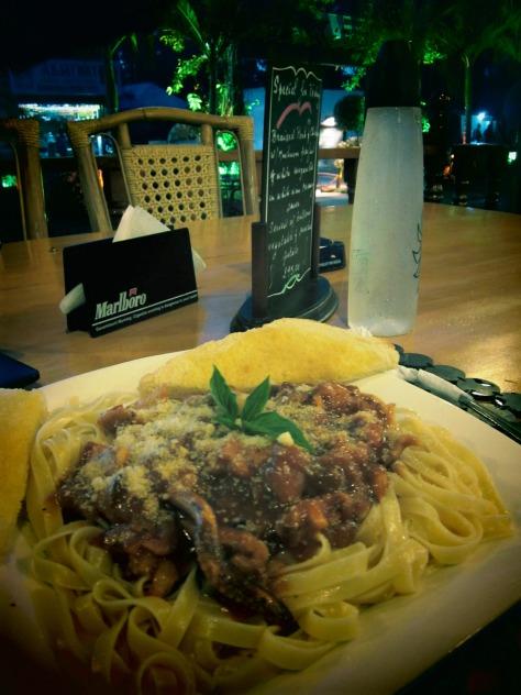 Marinara Pasta at Coucou Bar and Restaurant