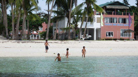 In front of St. Bernard Beach Resort