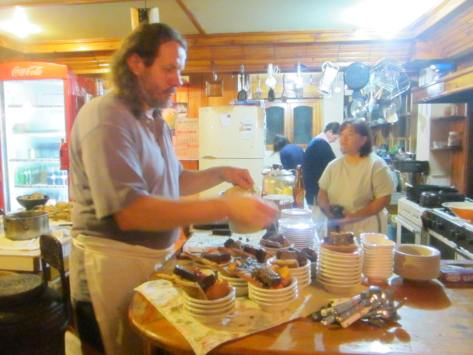 Chef at work, Log Cabin, Sagada