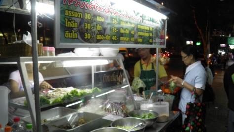 Dinner on the street